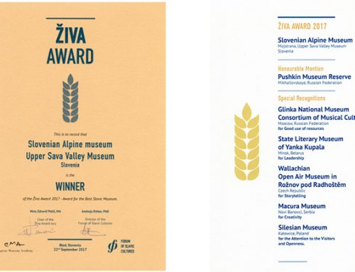 Slovenski planinski muzej dobitnik nagrade ŽIVA