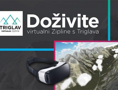 Doživite virtualni zipline s Triglava!