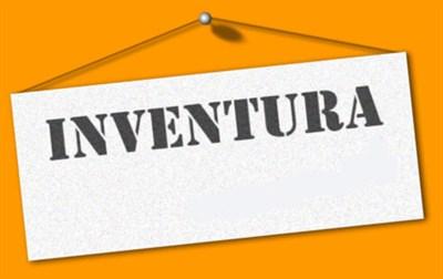 Zaprto zaradi inventure