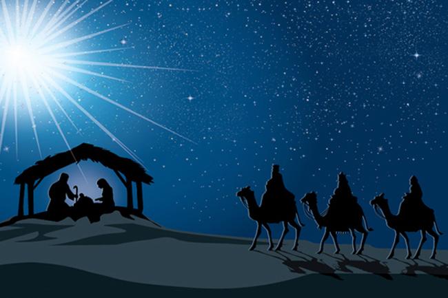 Nativity scene in museum
