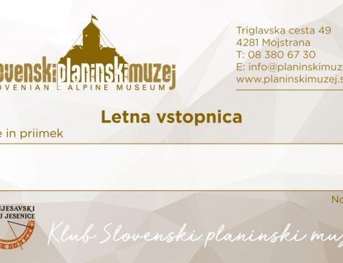 Novo: Letne vstopnice za obisk Slovenskega planinskega muzeja