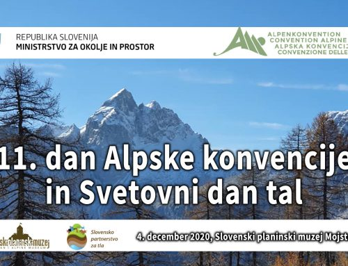 11. dan Alpske konvencije in Svetovni dan tal – virtualni dogodek