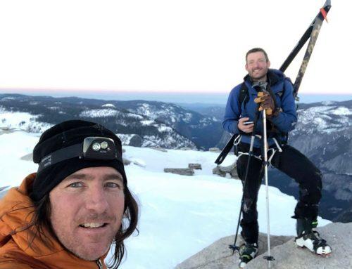 Prvi neprekinjeni smučarski spust z gore Half Dome