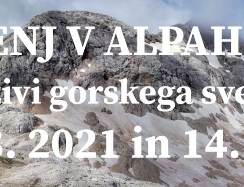 Izzivi gorskega sveta, 12. 8. 2021